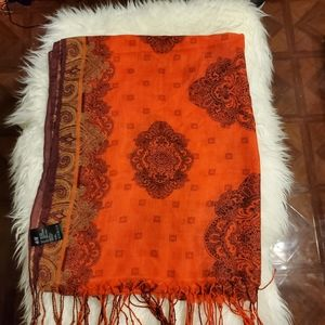 H&M Red Scarf with Fringe